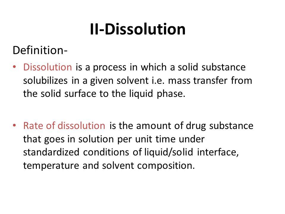 II-Dissolution Definition-