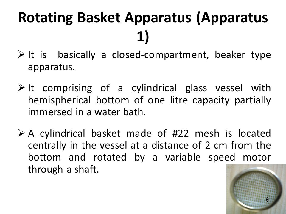 Rotating Basket Apparatus (Apparatus 1)