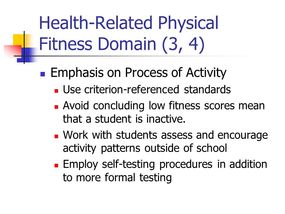Health-Related Physical Fitness Domain (3, 4)