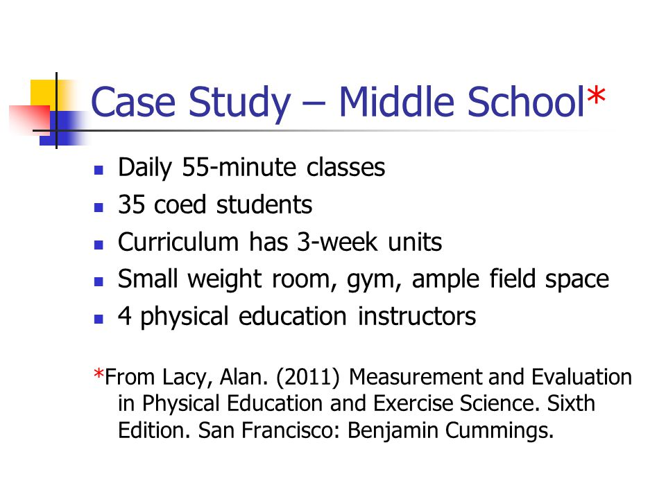 Case Study – Middle School*