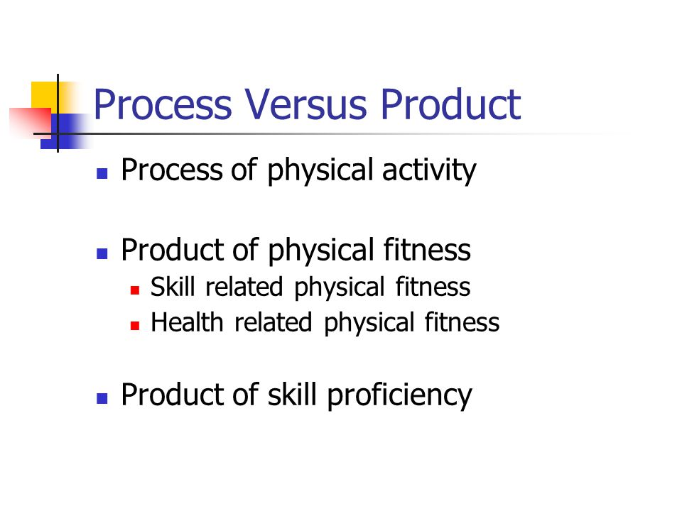Process Versus Product