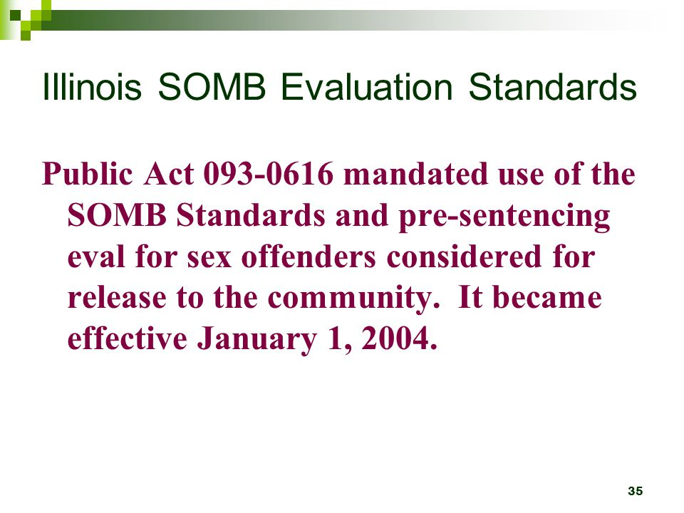 Illinois SOMB Evaluation Standards