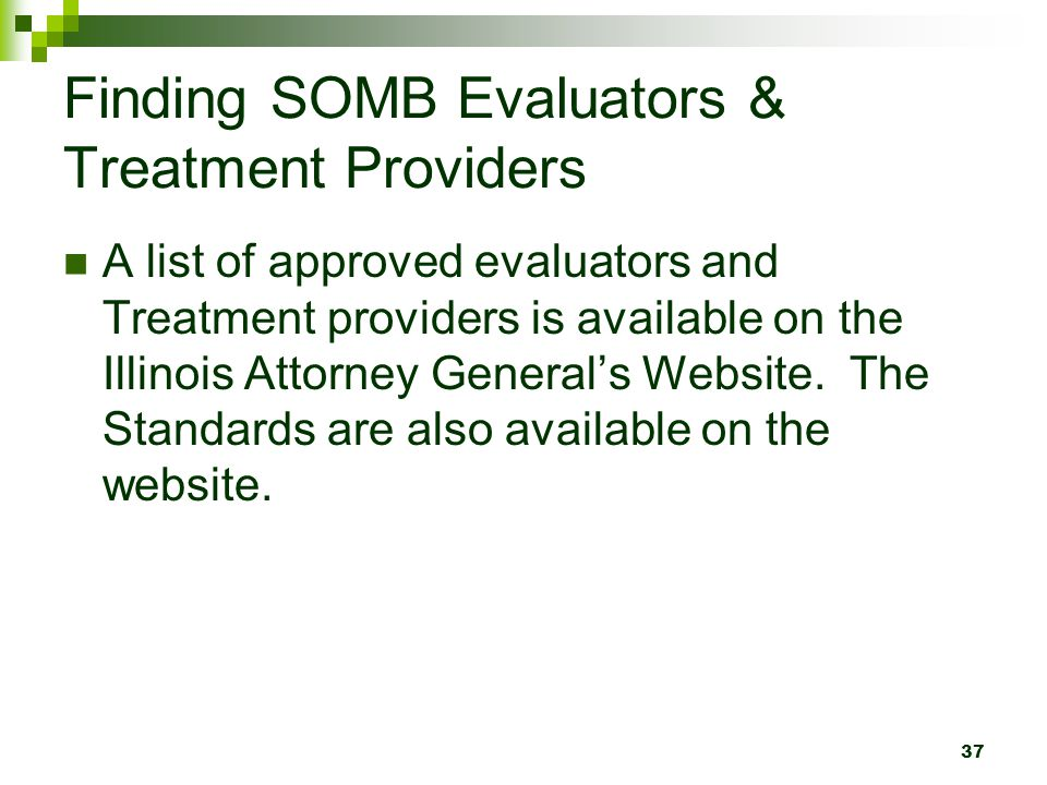 Finding SOMB Evaluators & Treatment Providers