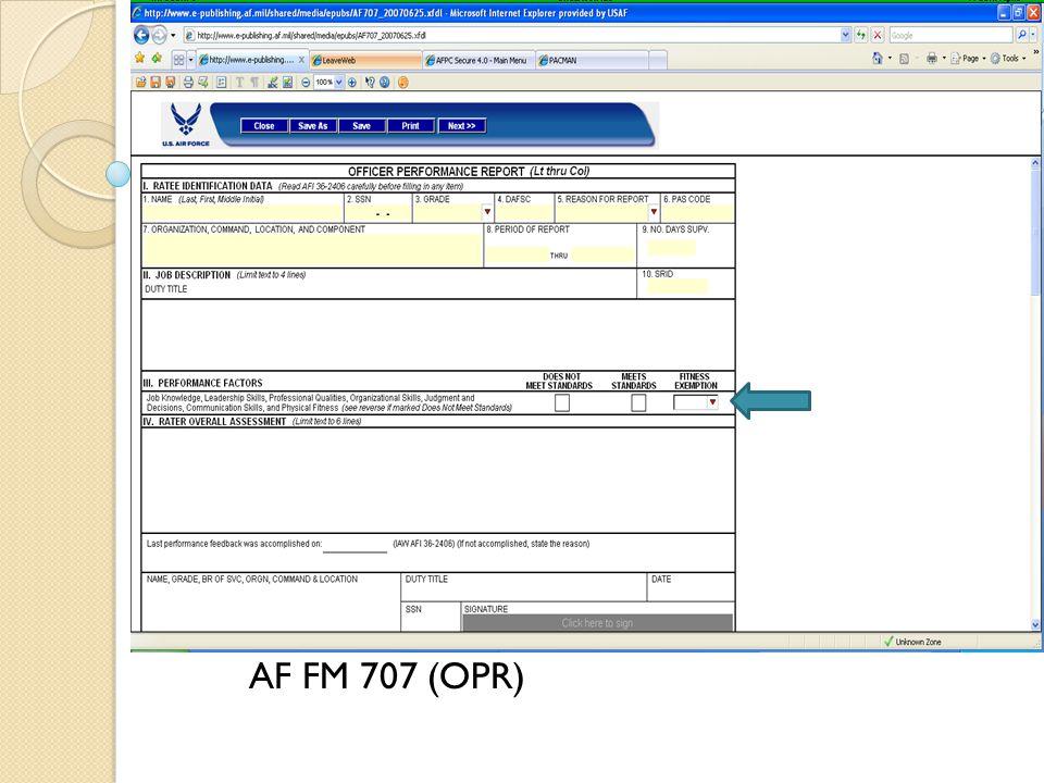 Insert pic of AF910 AF FM 707 (OPR)