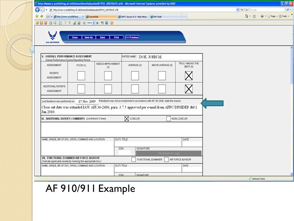 AF 910/911 Example