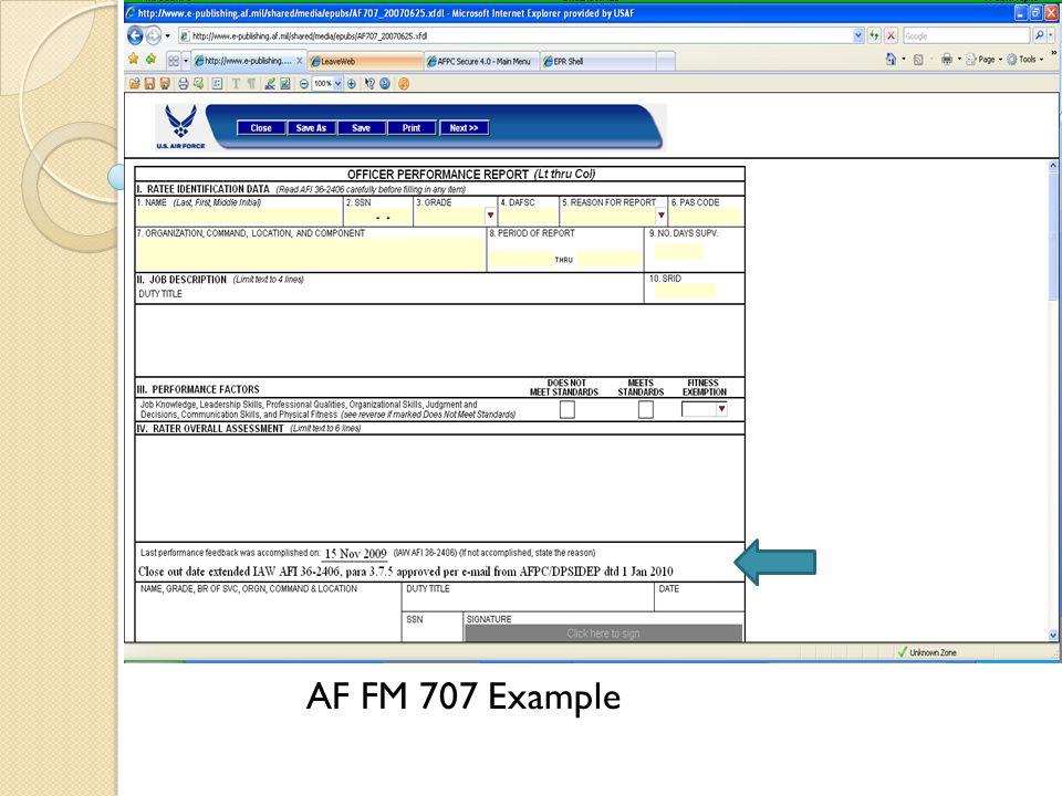 AF FM 707 Example
