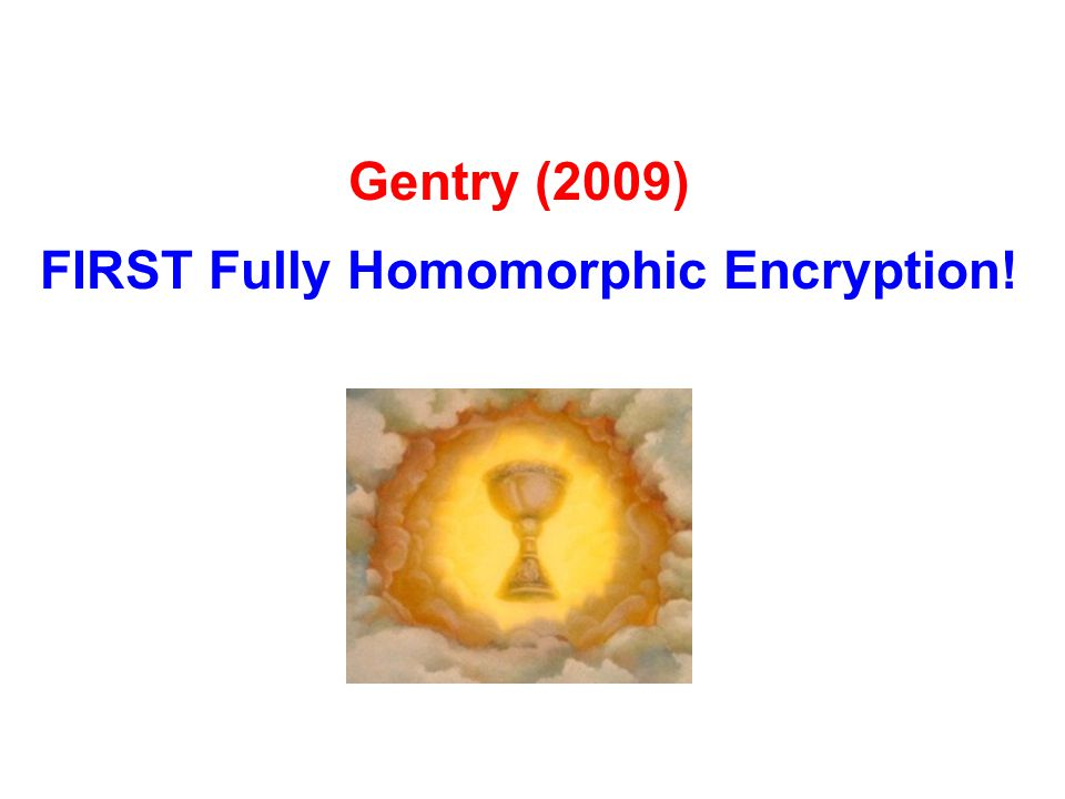 FIRST Fully Homomorphic Encryption!