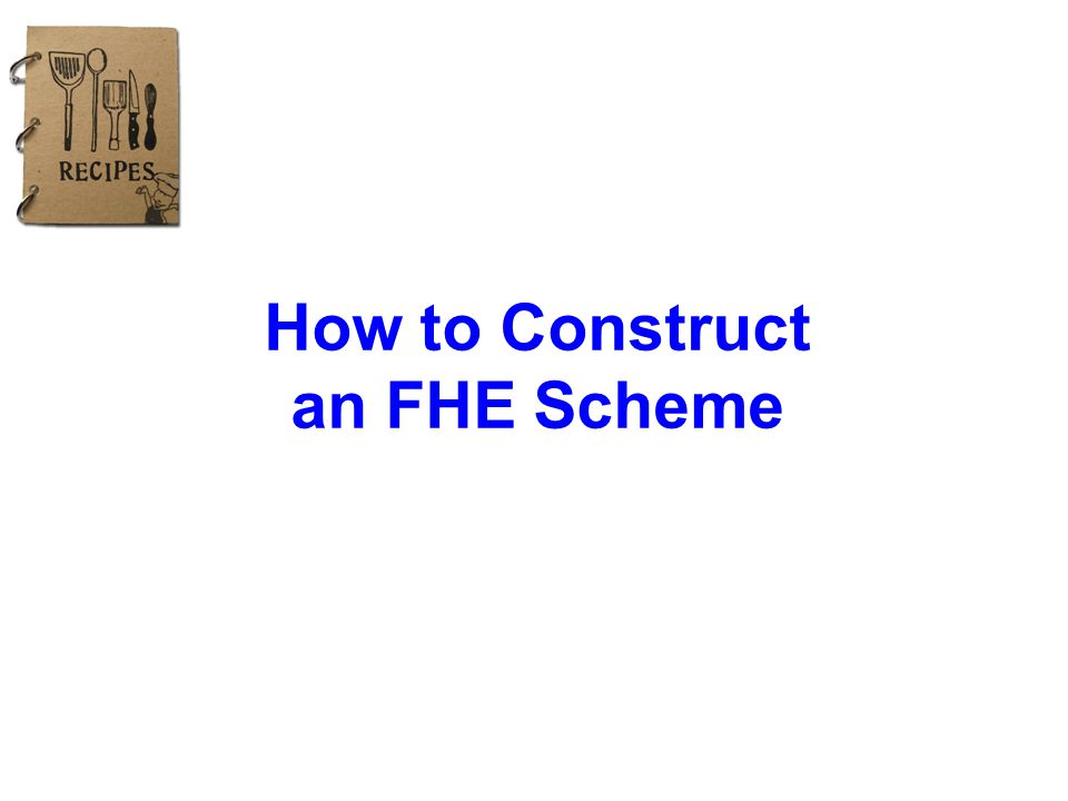 How to Construct an FHE Scheme