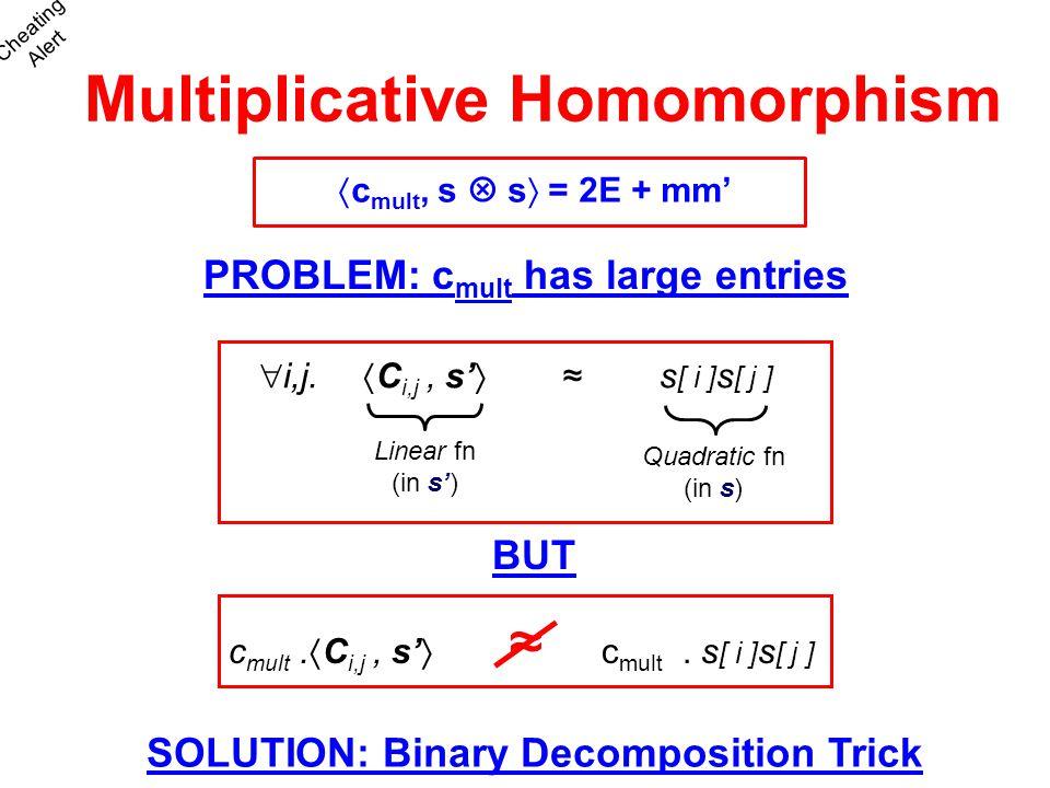 Multiplicative Homomorphism
