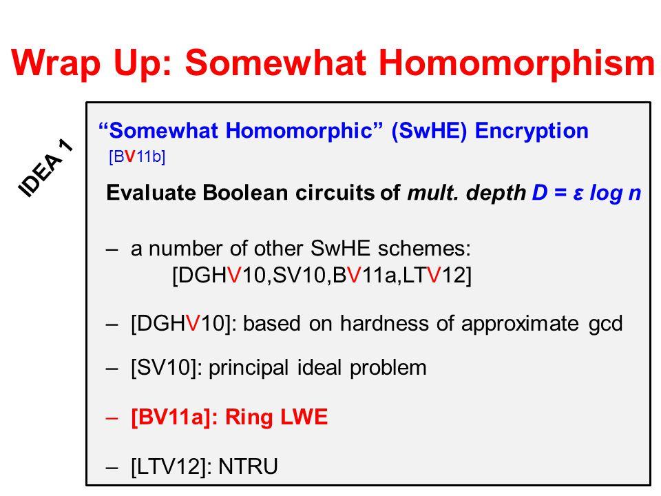 Wrap Up: Somewhat Homomorphism