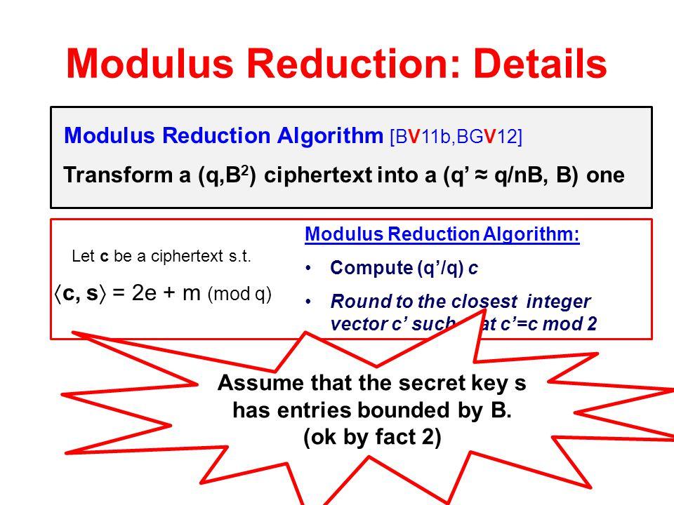 Modulus Reduction: Details