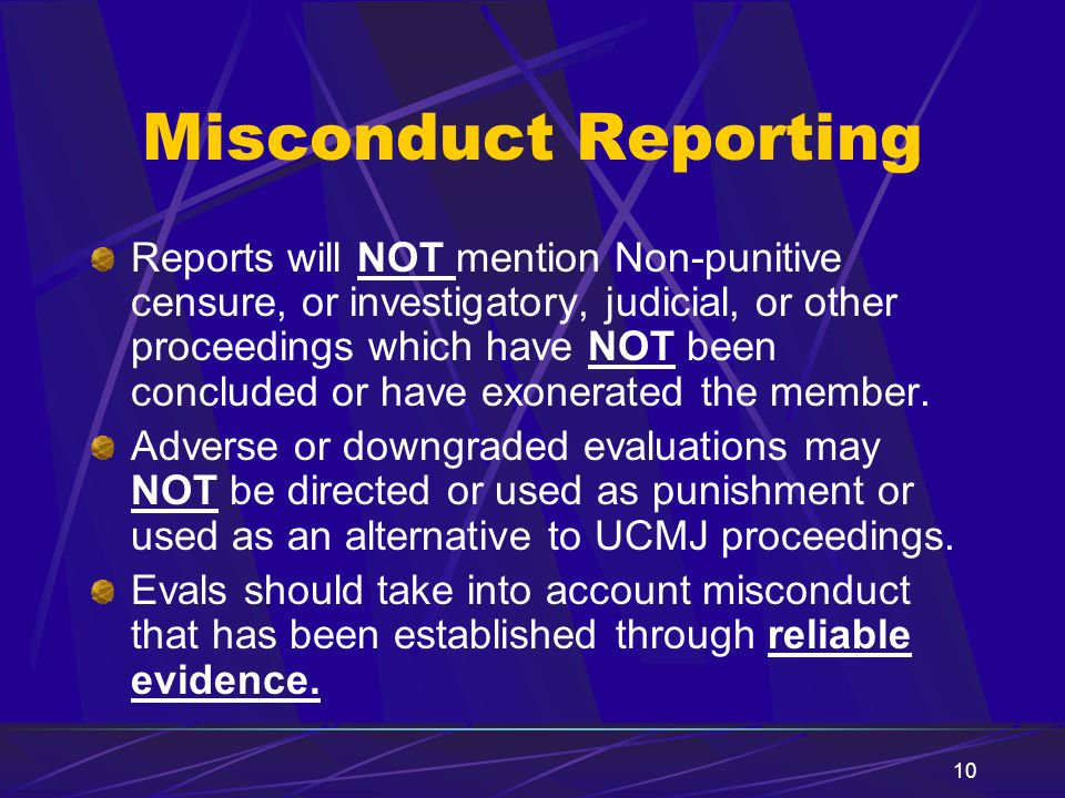 Misconduct Reporting