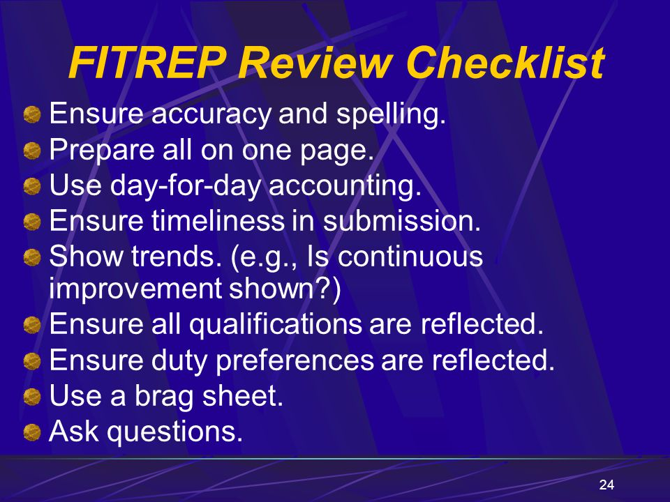 FITREP Review Checklist