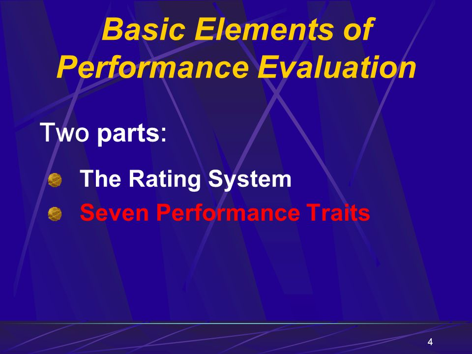 Basic Elements of Performance Evaluation