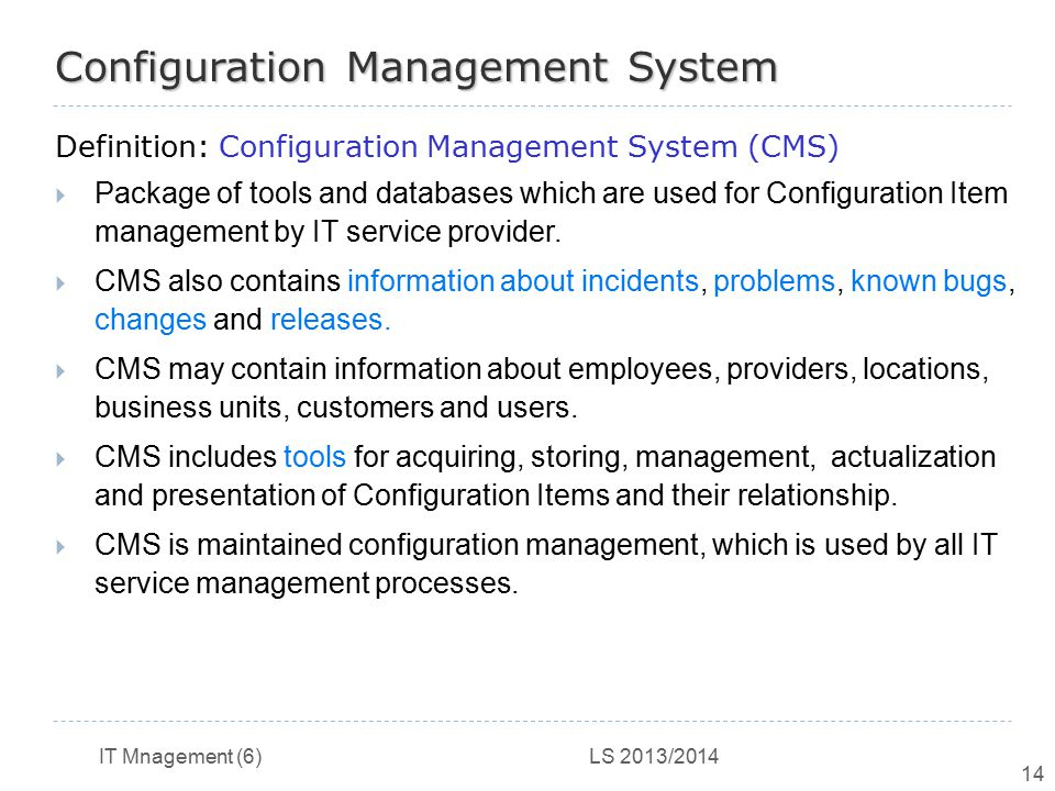 Configuration Management System