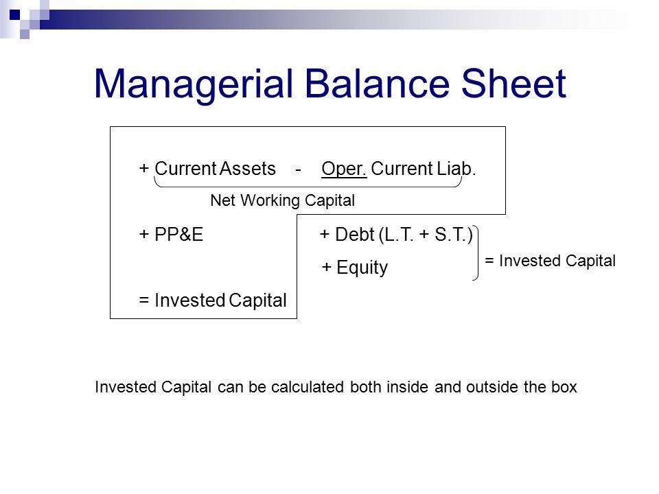Managerial Balance Sheet
