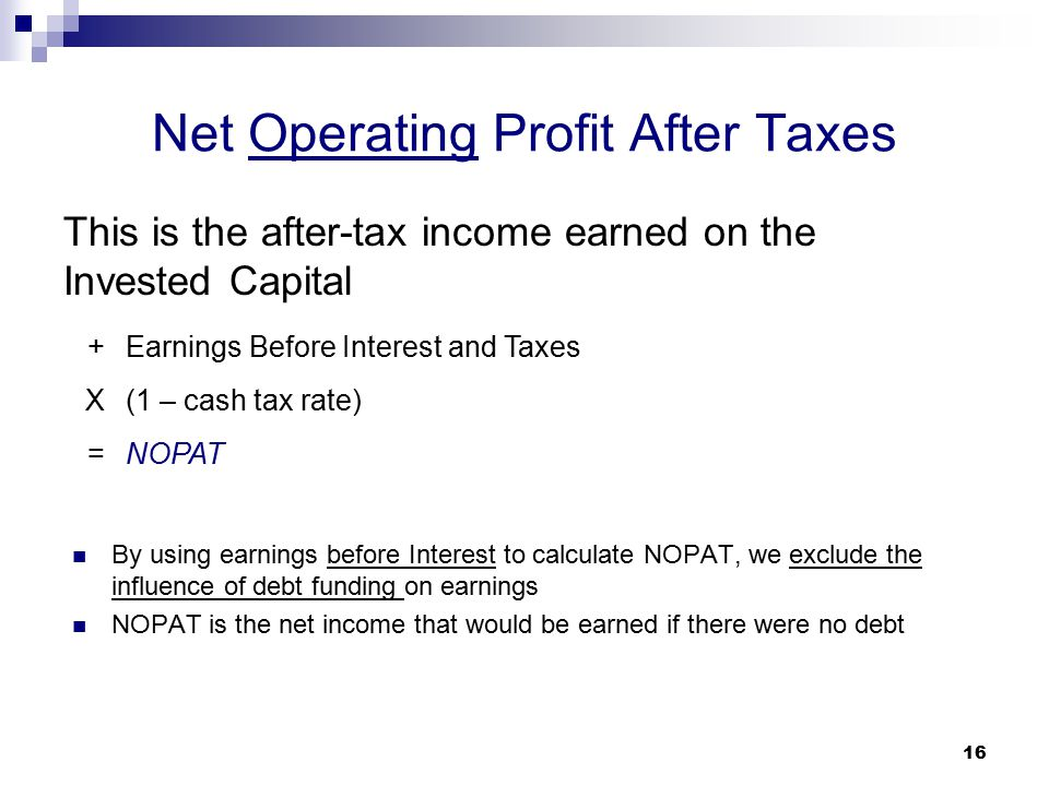 Net Operating Profit After Taxes