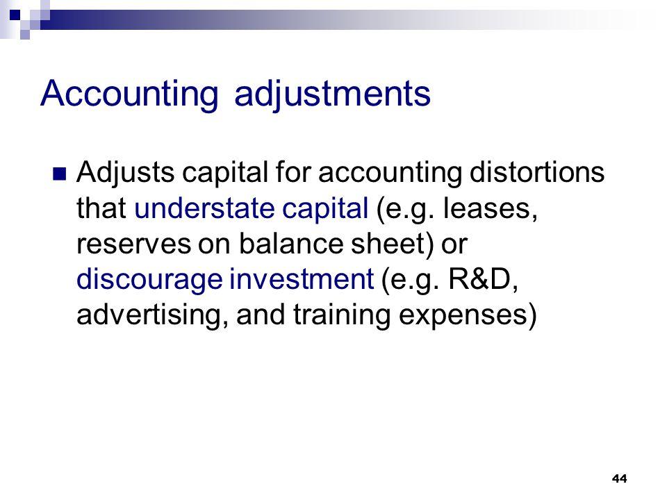 Accounting adjustments