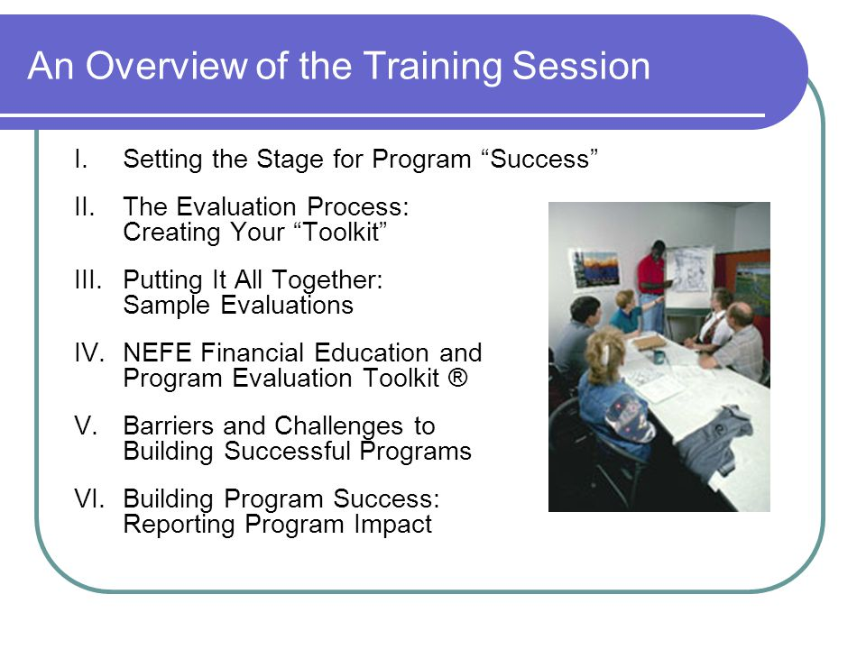 An Overview of the Training Session