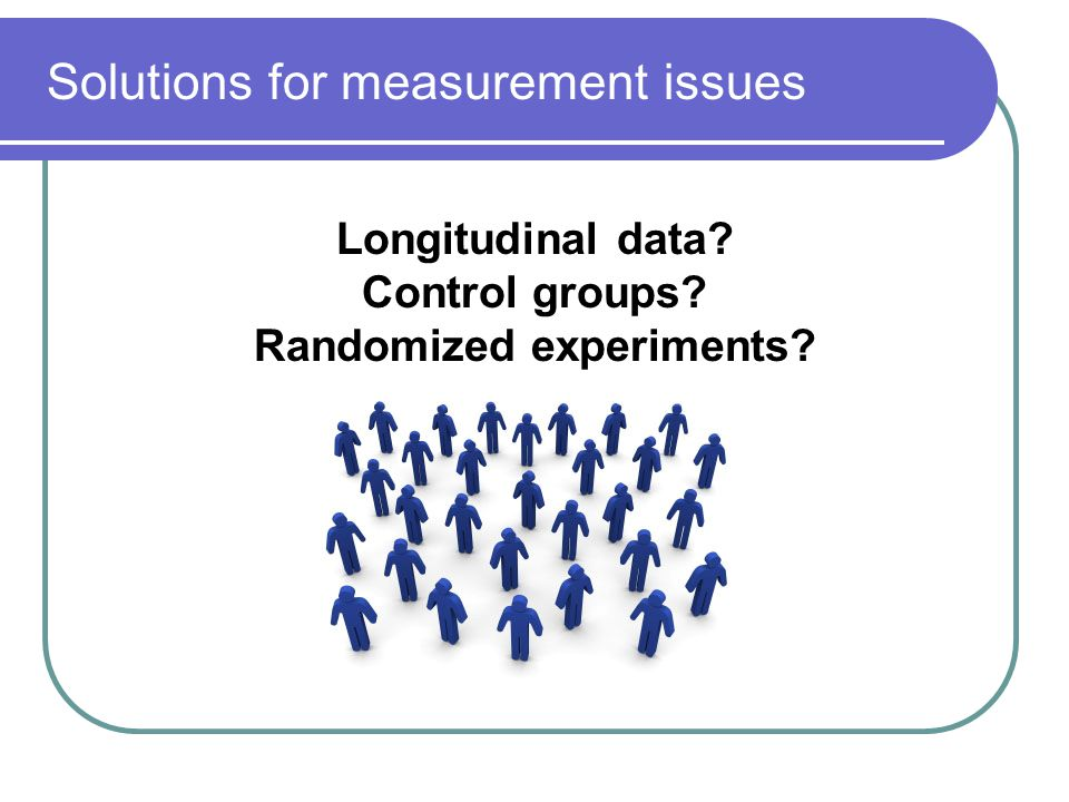 Solutions for measurement issues