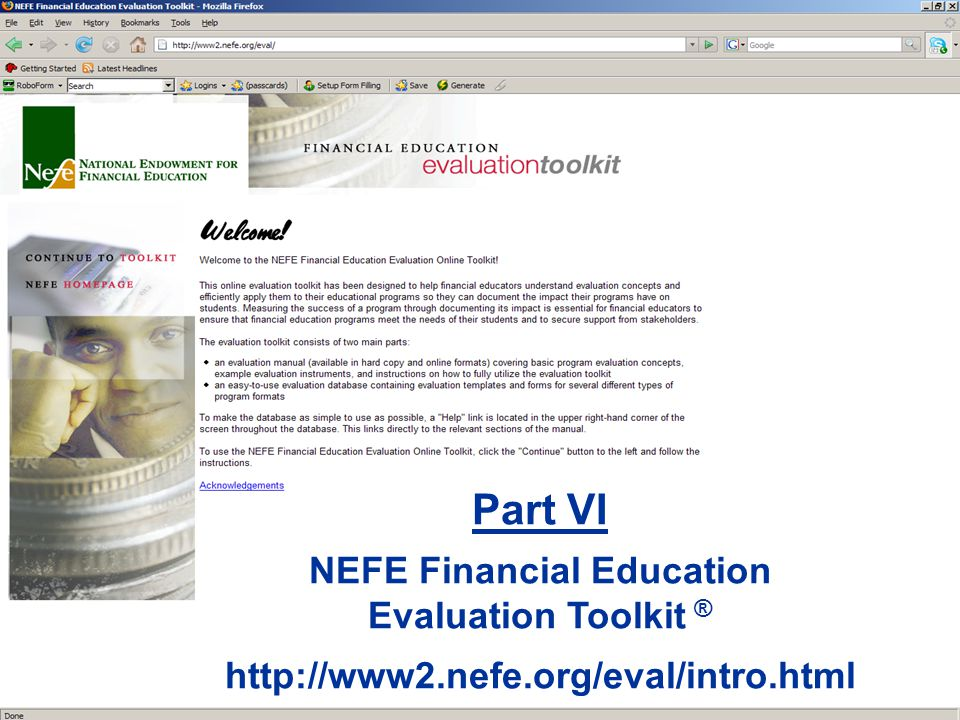 Part VI NEFE Financial Education