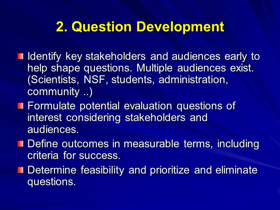 2. Question Development