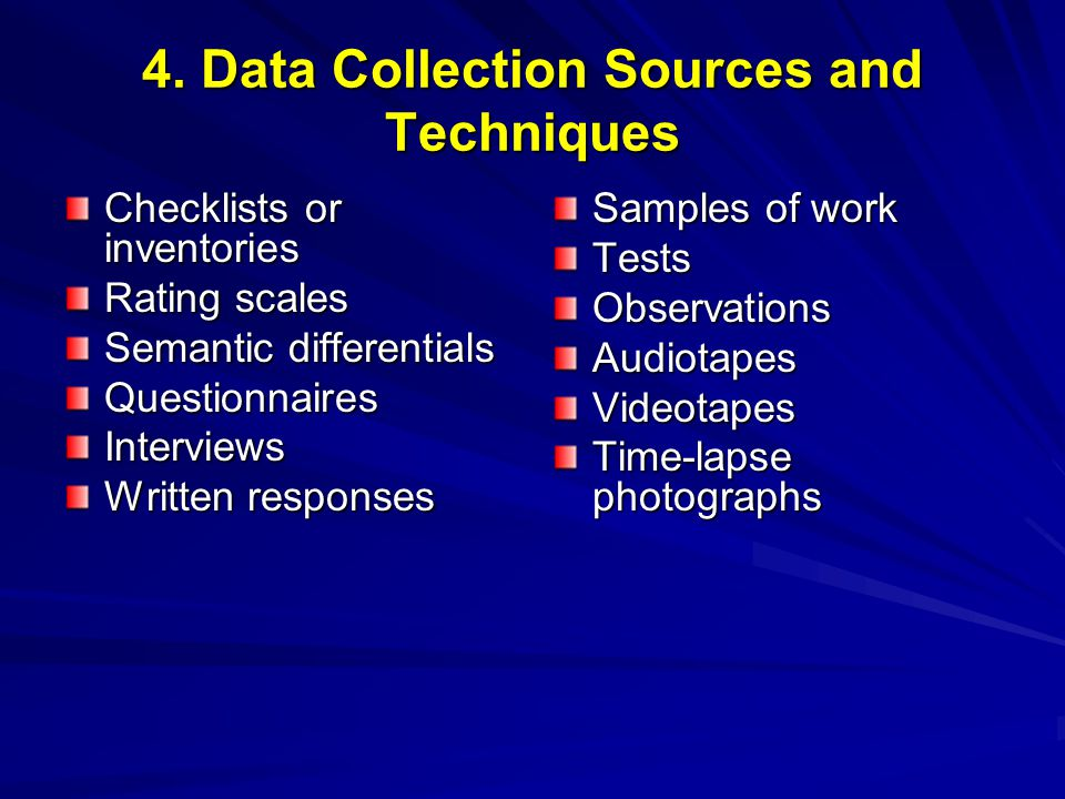 4. Data Collection Sources and Techniques