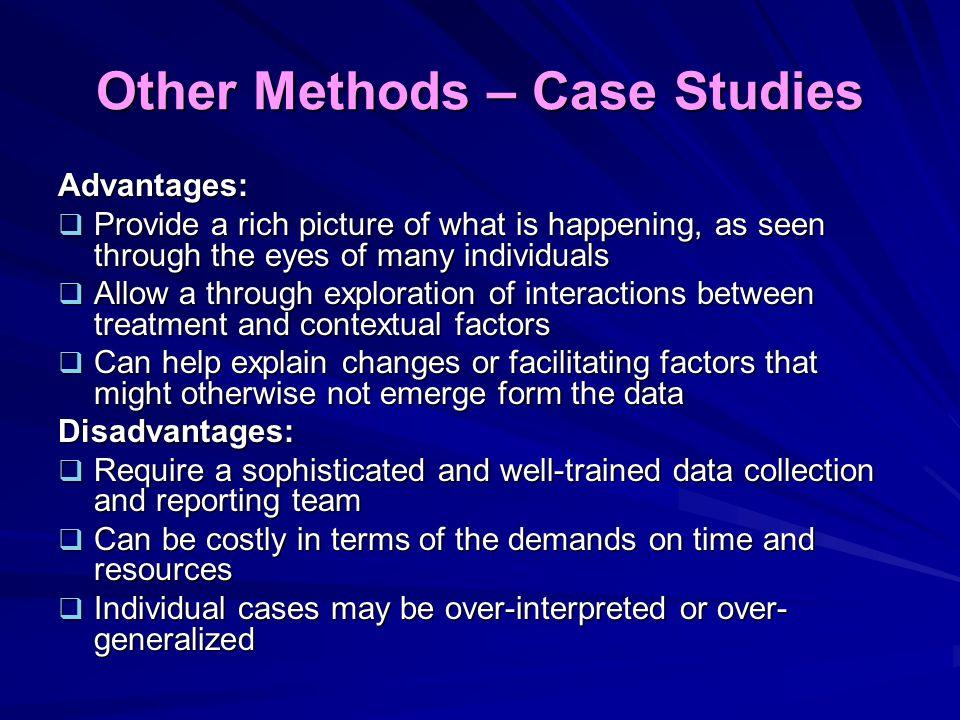 Other Methods – Case Studies