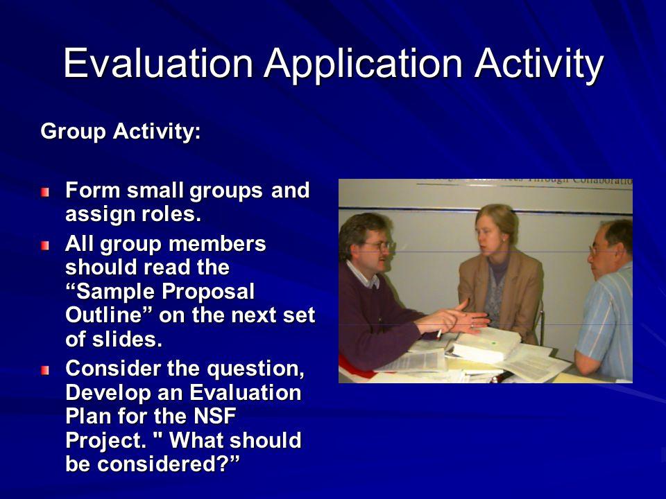 Evaluation Application Activity
