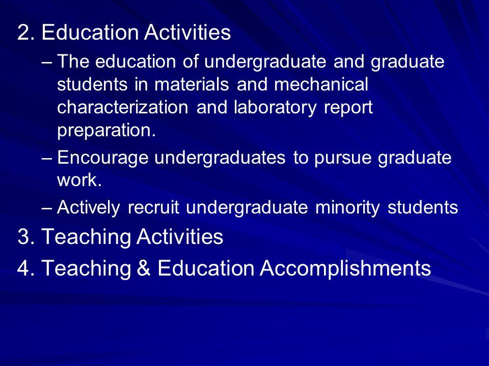 4. Teaching & Education Accomplishments