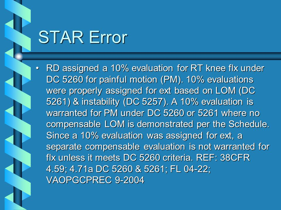 STAR Error