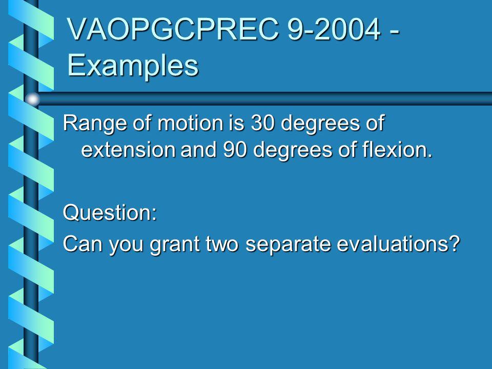 VAOPGCPREC 9-2004 - Examples