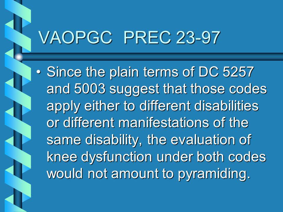 VAOPGC PREC 23-97
