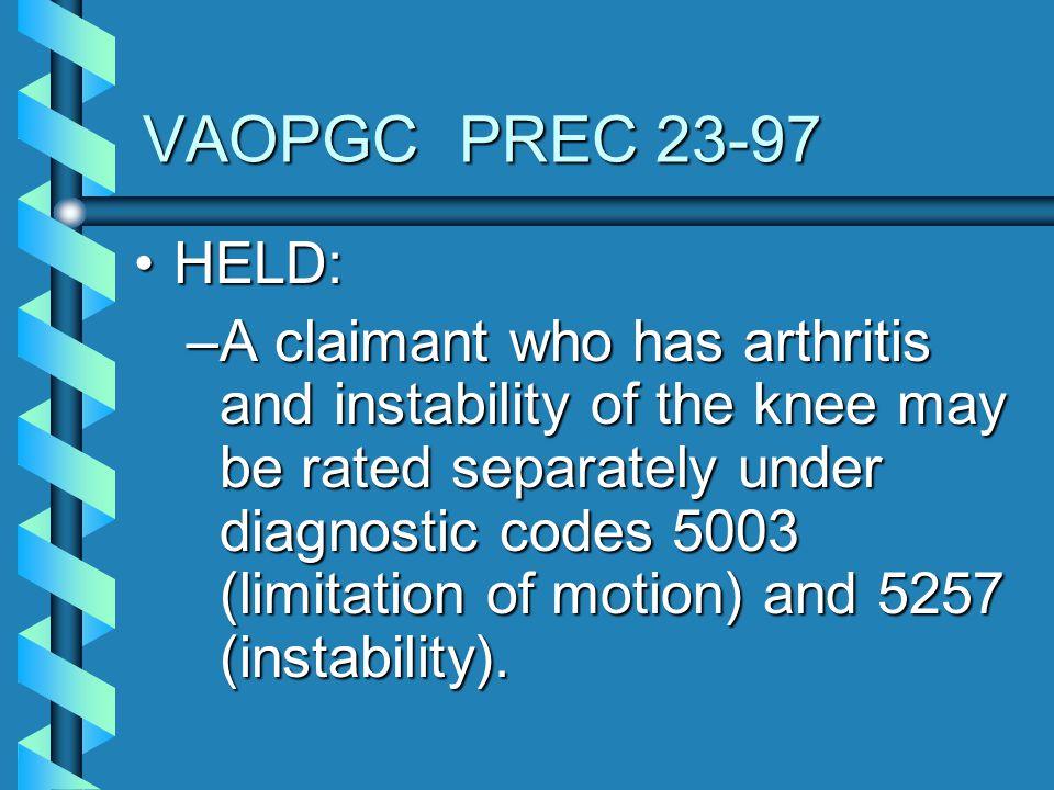 VAOPGC PREC 23-97 HELD: