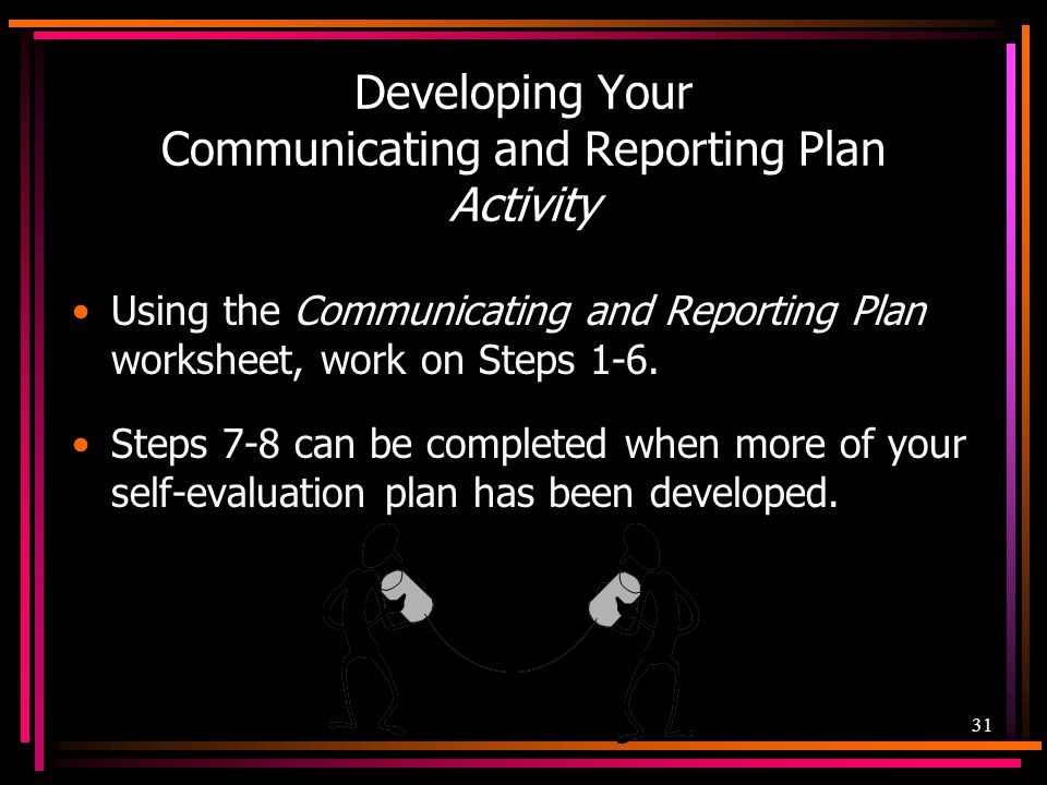 Developing Your Communicating and Reporting Plan Activity