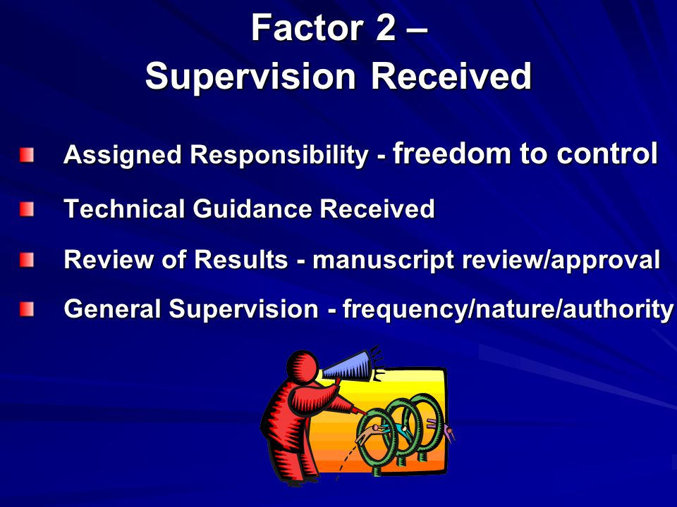 Factor 2 – Supervision Received