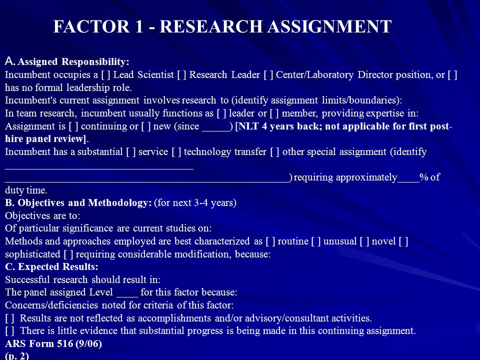 FACTOR 1 - RESEARCH ASSIGNMENT
