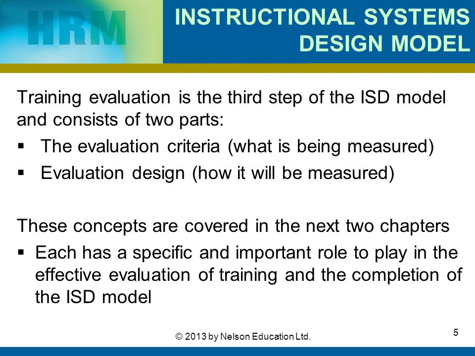instructional design models in education