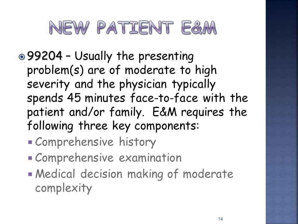 New patient e&m