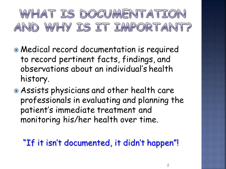 What is documentation and why is it important