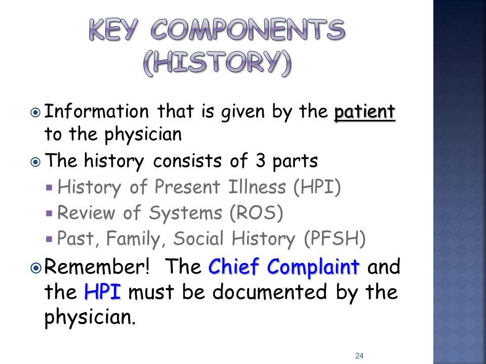 Key Components (History)