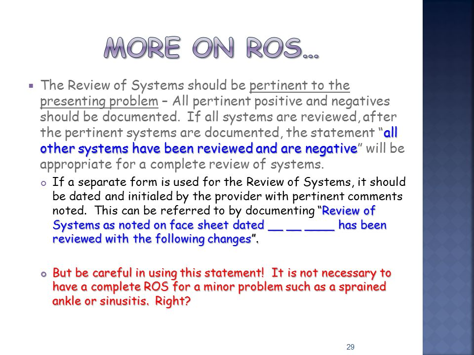 More on ros…