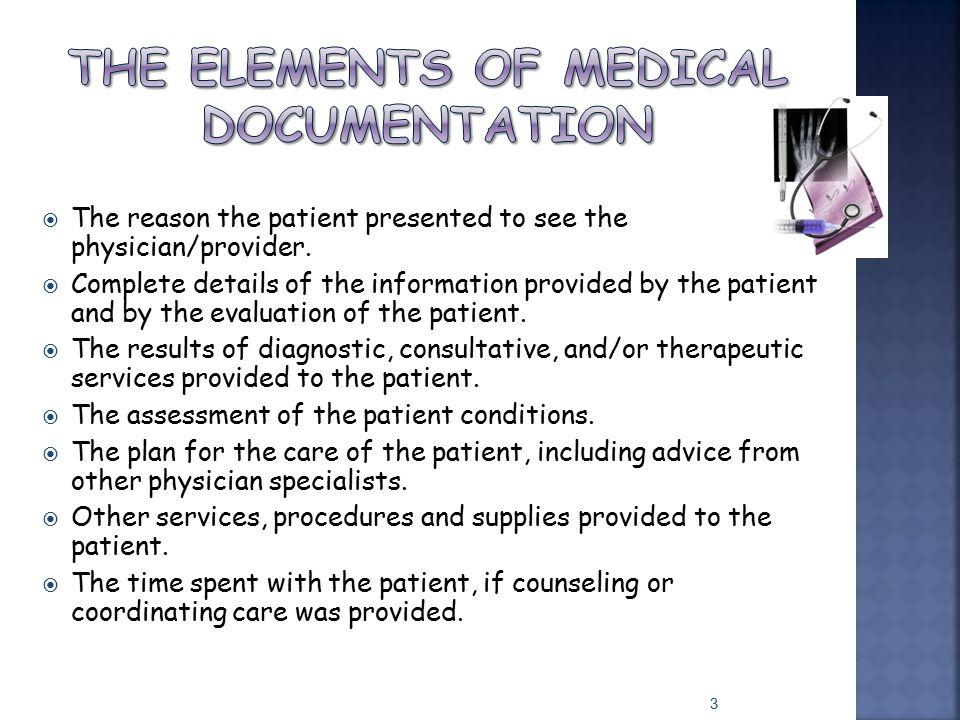 The Elements of Medical Documentation