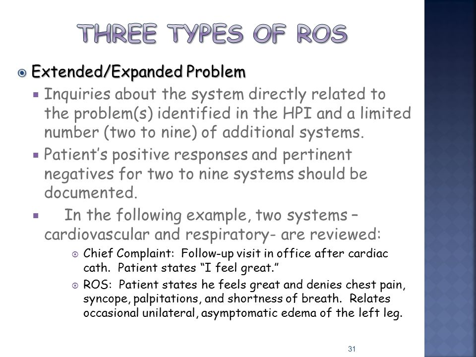 Three types of ros Extended/Expanded Problem