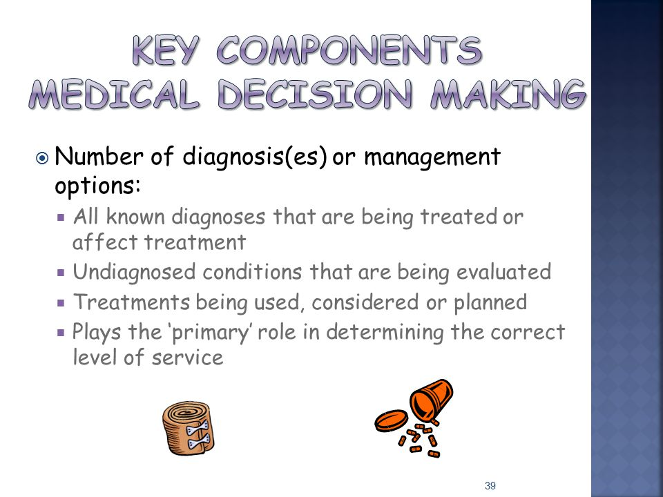 Key Components Medical Decision Making