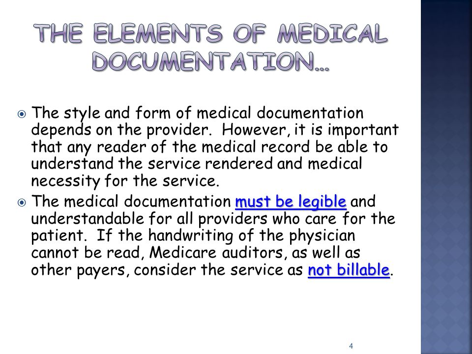 The Elements of Medical Documentation…