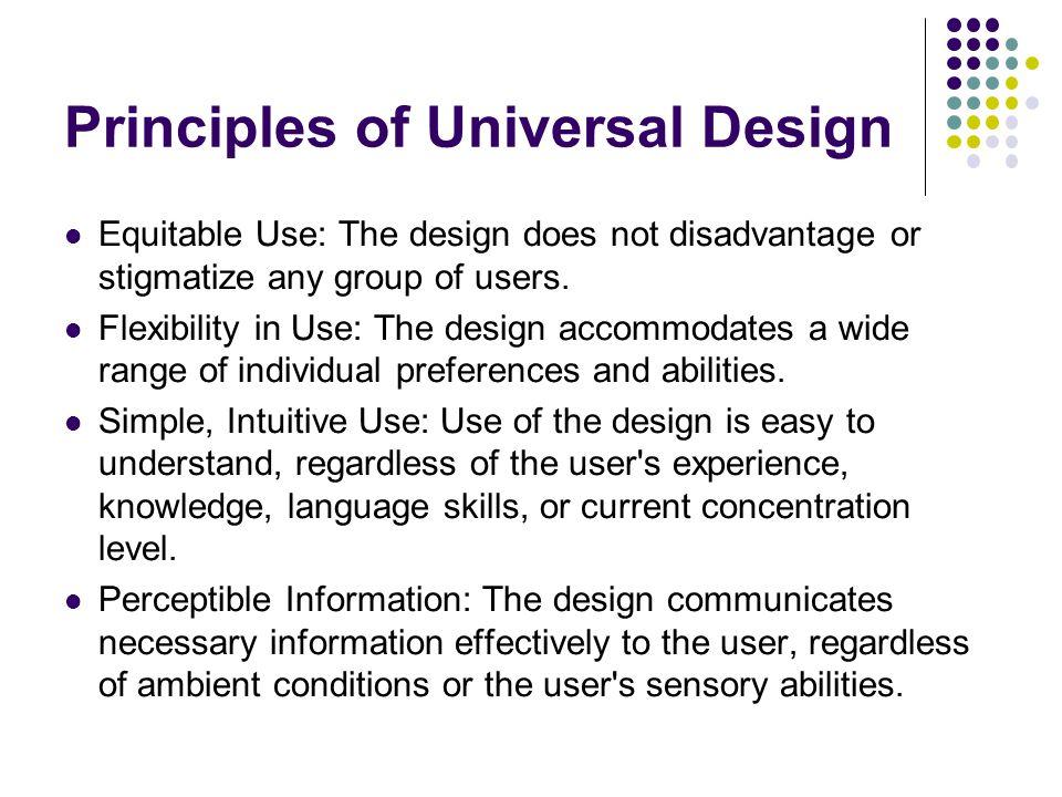 Principles of Universal Design