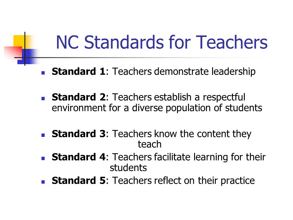 NC Standards for Teachers