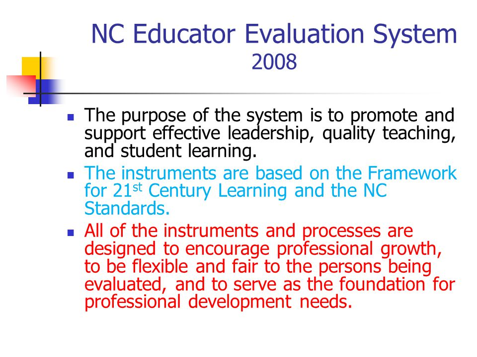 NC Educator Evaluation System 2008