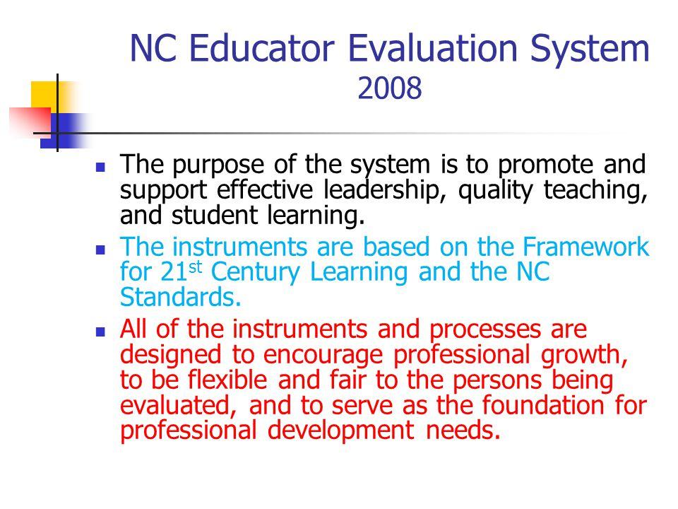 NC Educator Evaluation System 2008